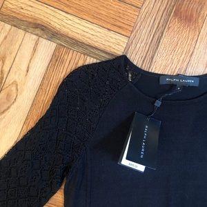 Ralph Lauren Knit Crochet Black Label Silk Dress